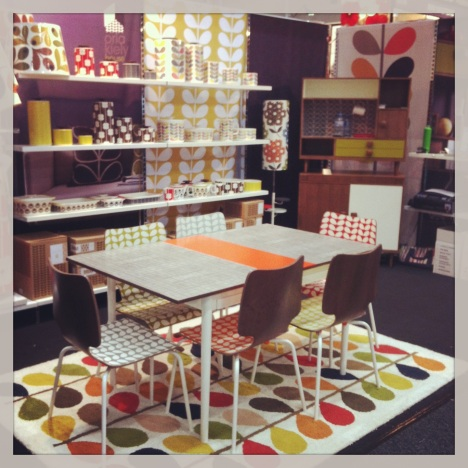 Orla Kiely furniture, rugs and accessories available through Green Grass